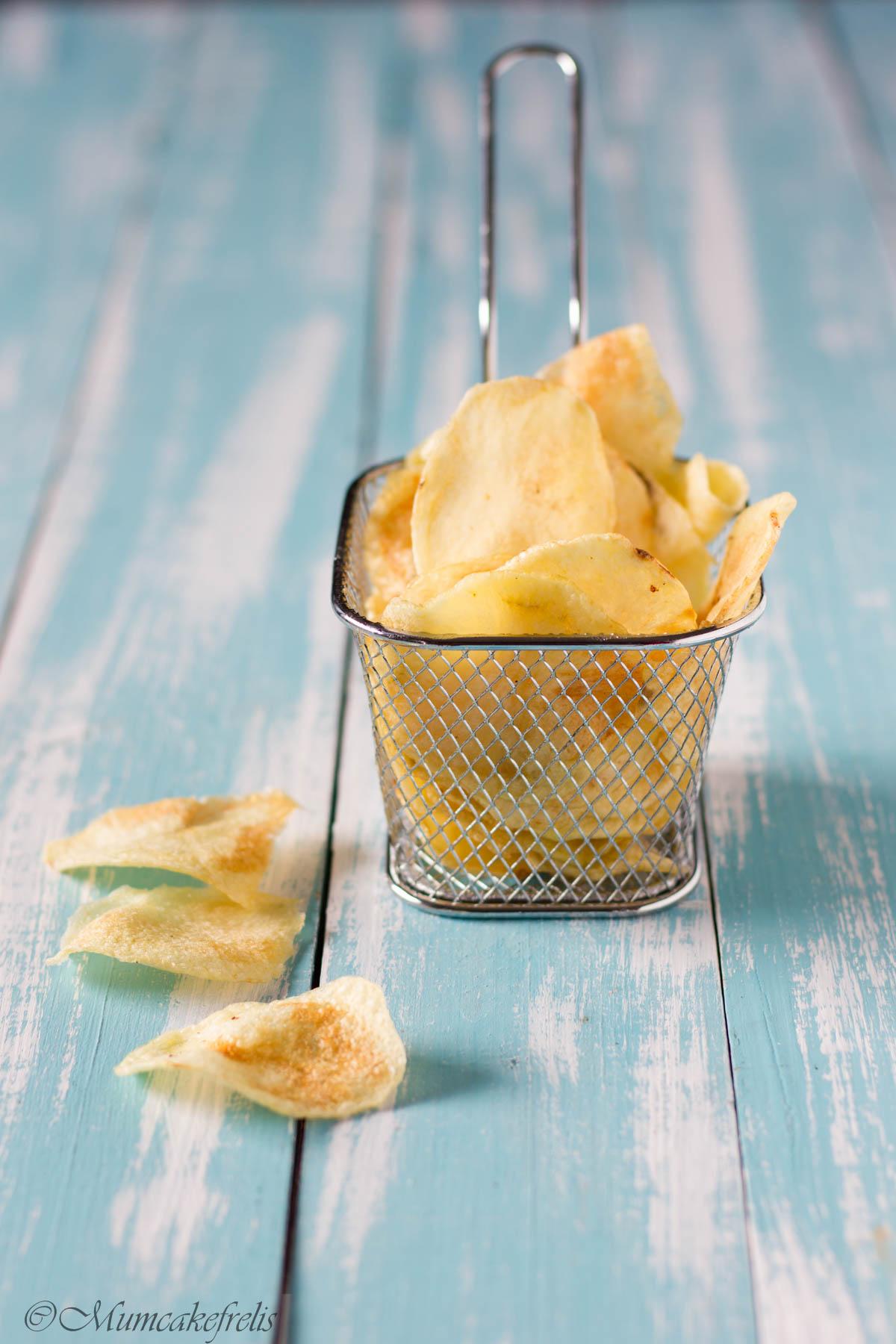 le chips di patata fatte in casa