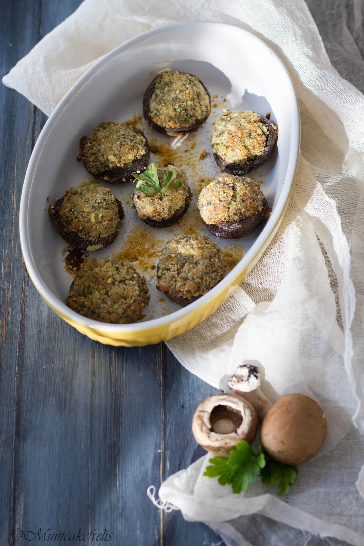 champignon farciti vegetariani