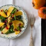 insalata con cachi e melograno