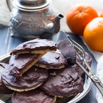 Jaffa cake, tortine con gelatina di arancia.                                        5/5(7)