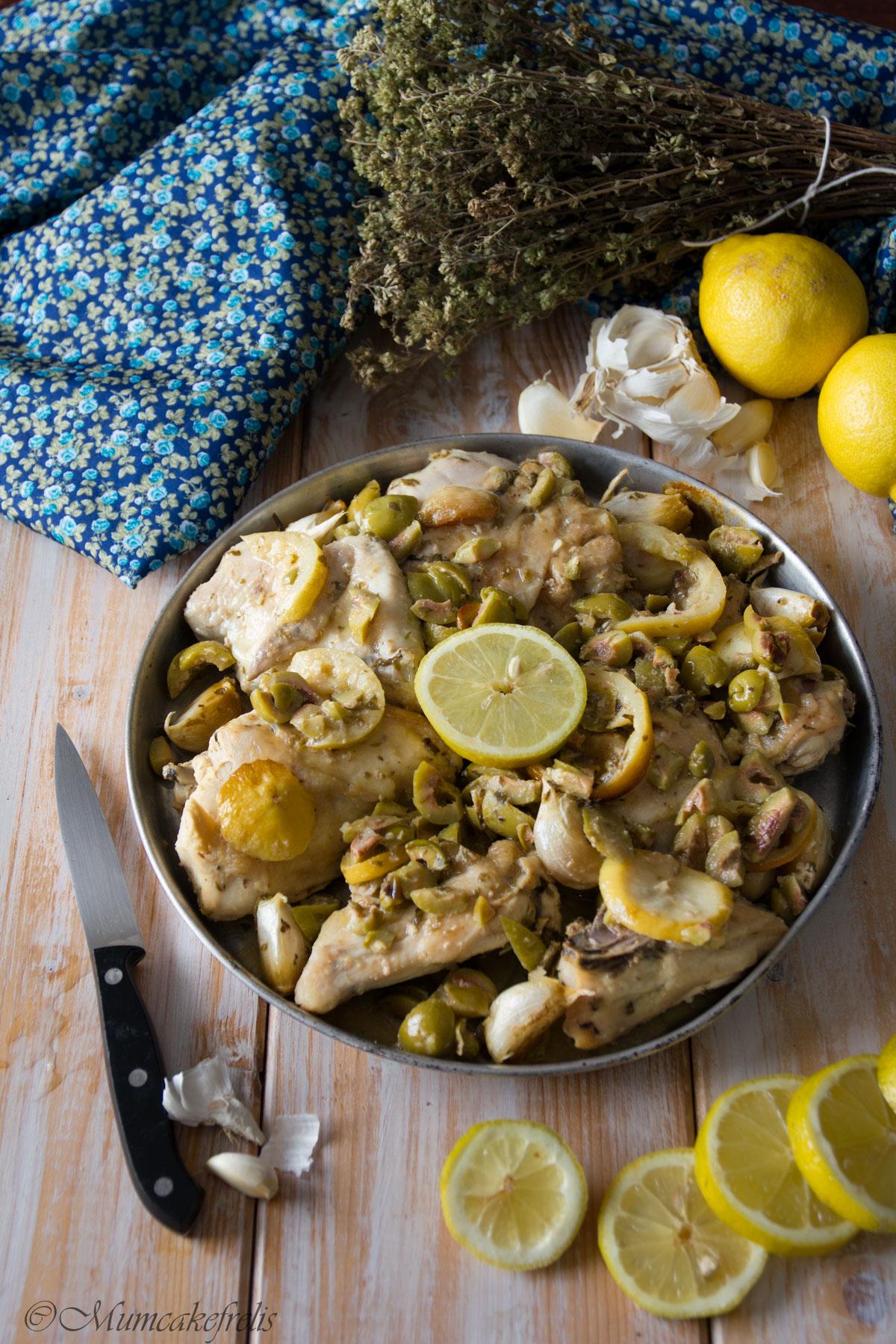 pollo con olive e limone