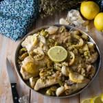 Pollo arrosto con olive, aglio e limone