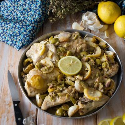 Pollo arrosto con olive, aglio e limone                                        5/5(7)