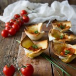 cestini di pane con pomodorini