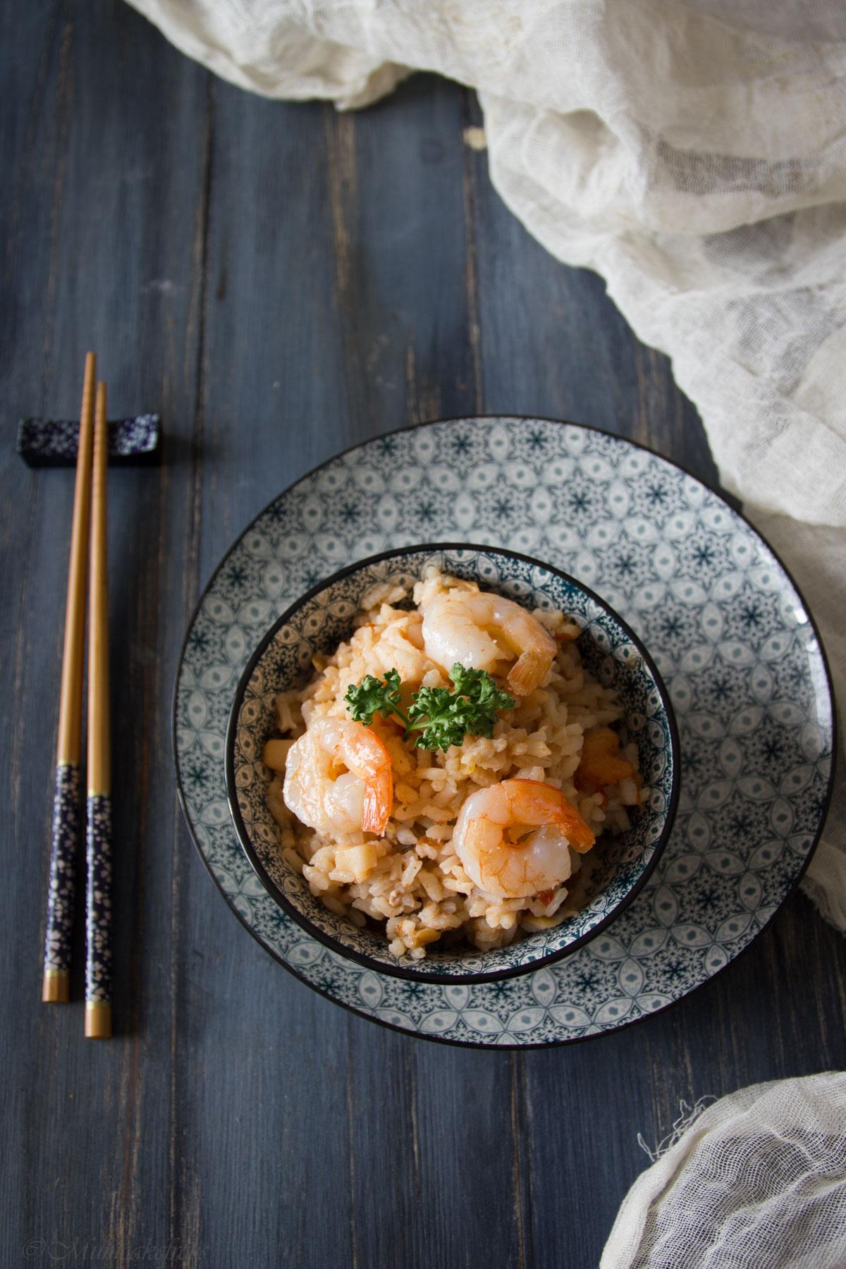 ricetta del risotto con gamveri