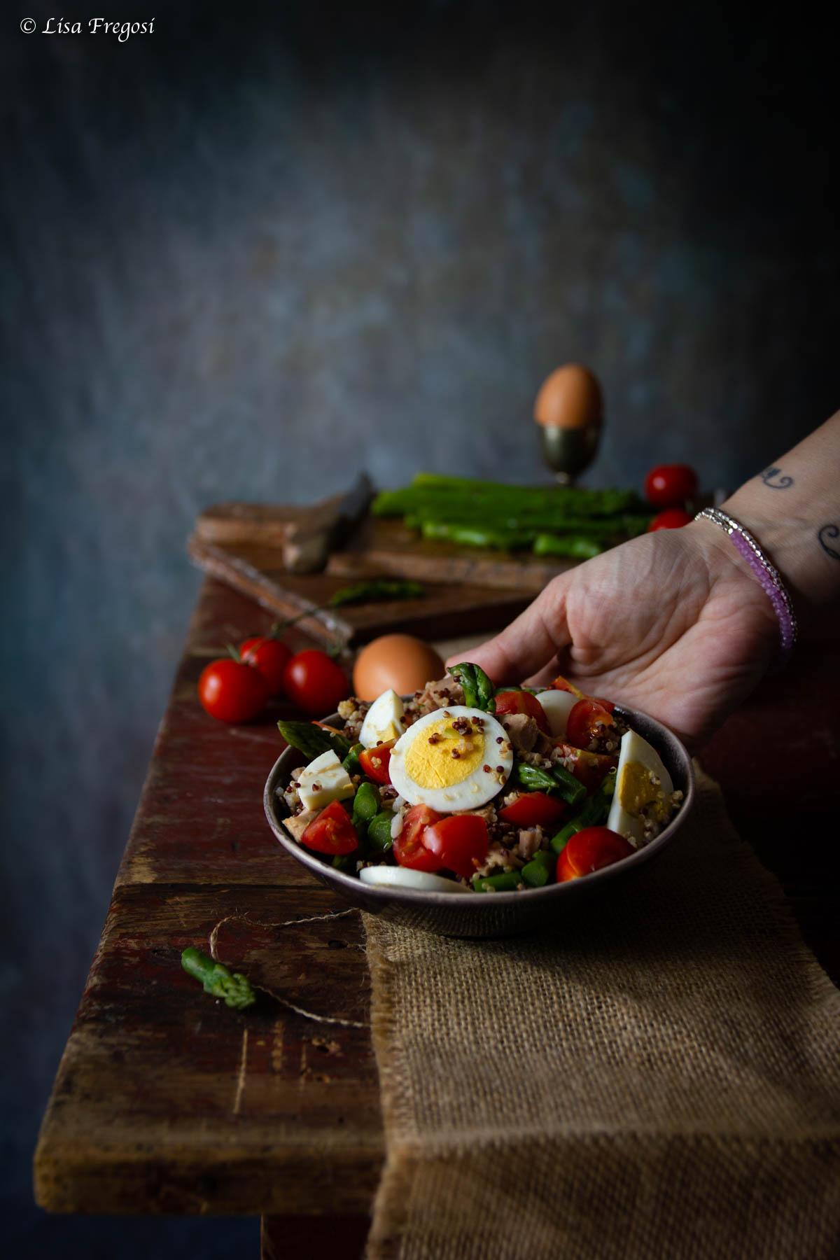 ricetta con quinoa bianca e rossa