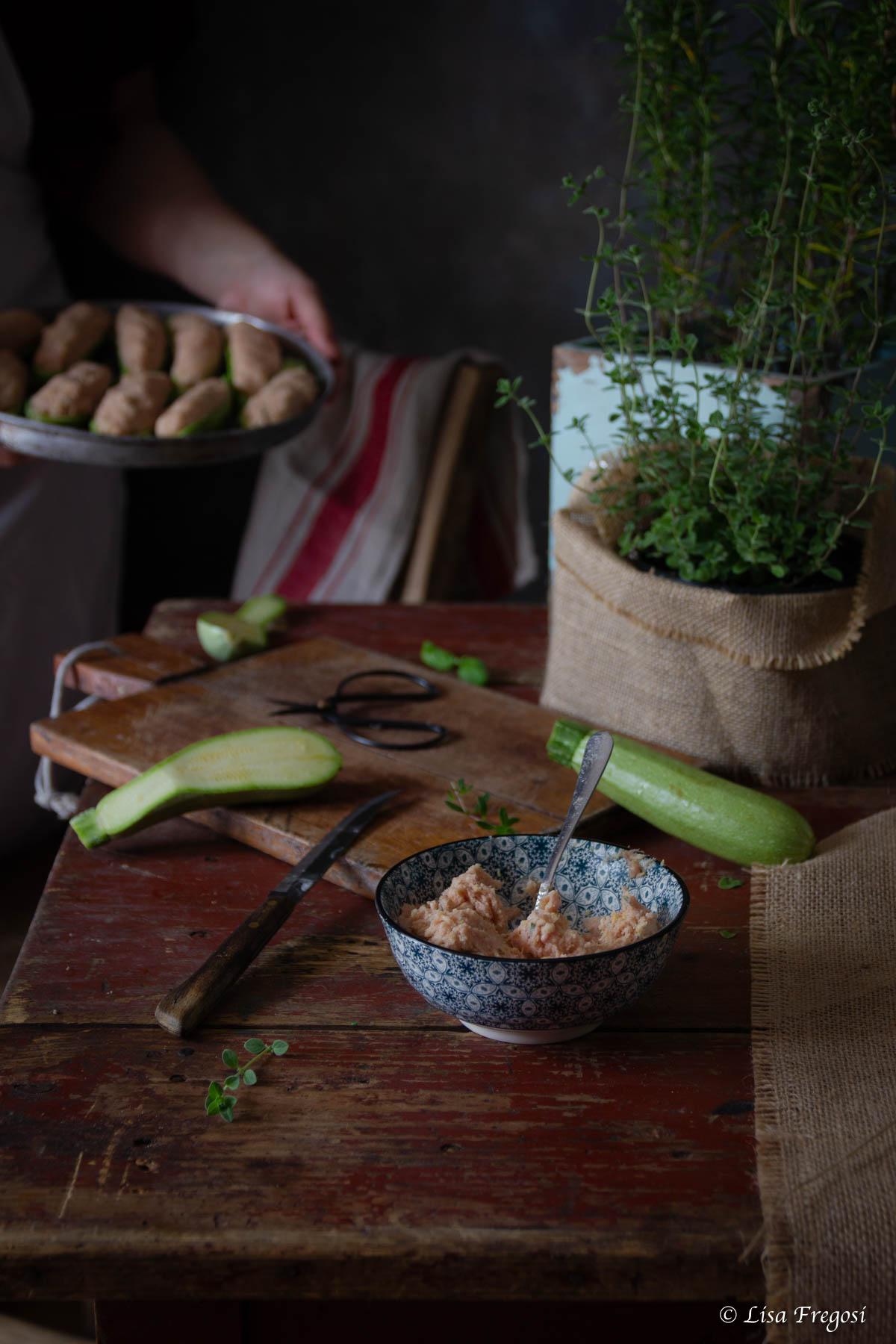 fettine Bergader nelle zucchine