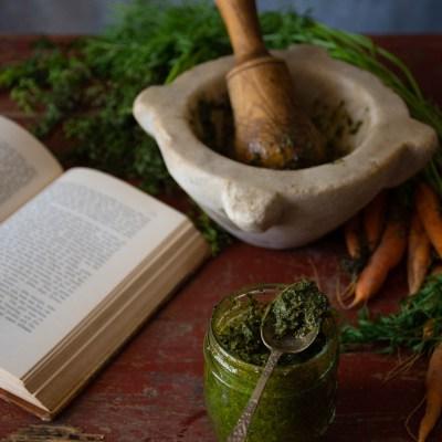 Pesto di ciuffi di carota, varianti da provare.                                        5/5(2)