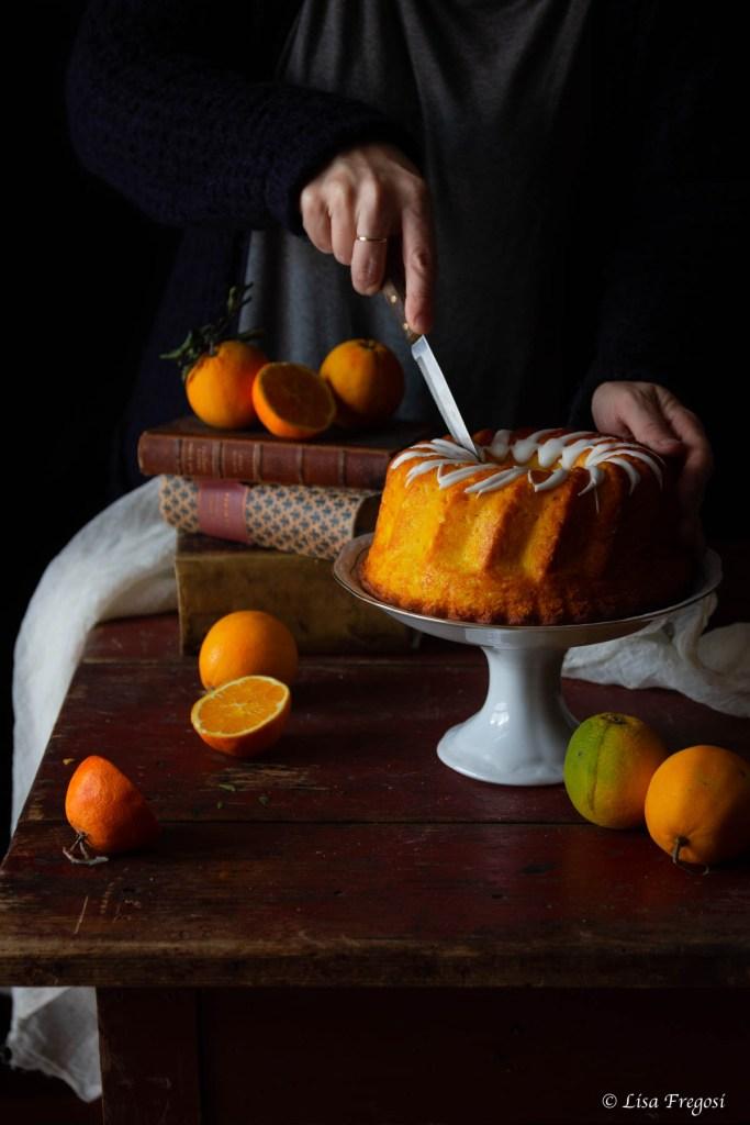 la chiffon cake all'arancia