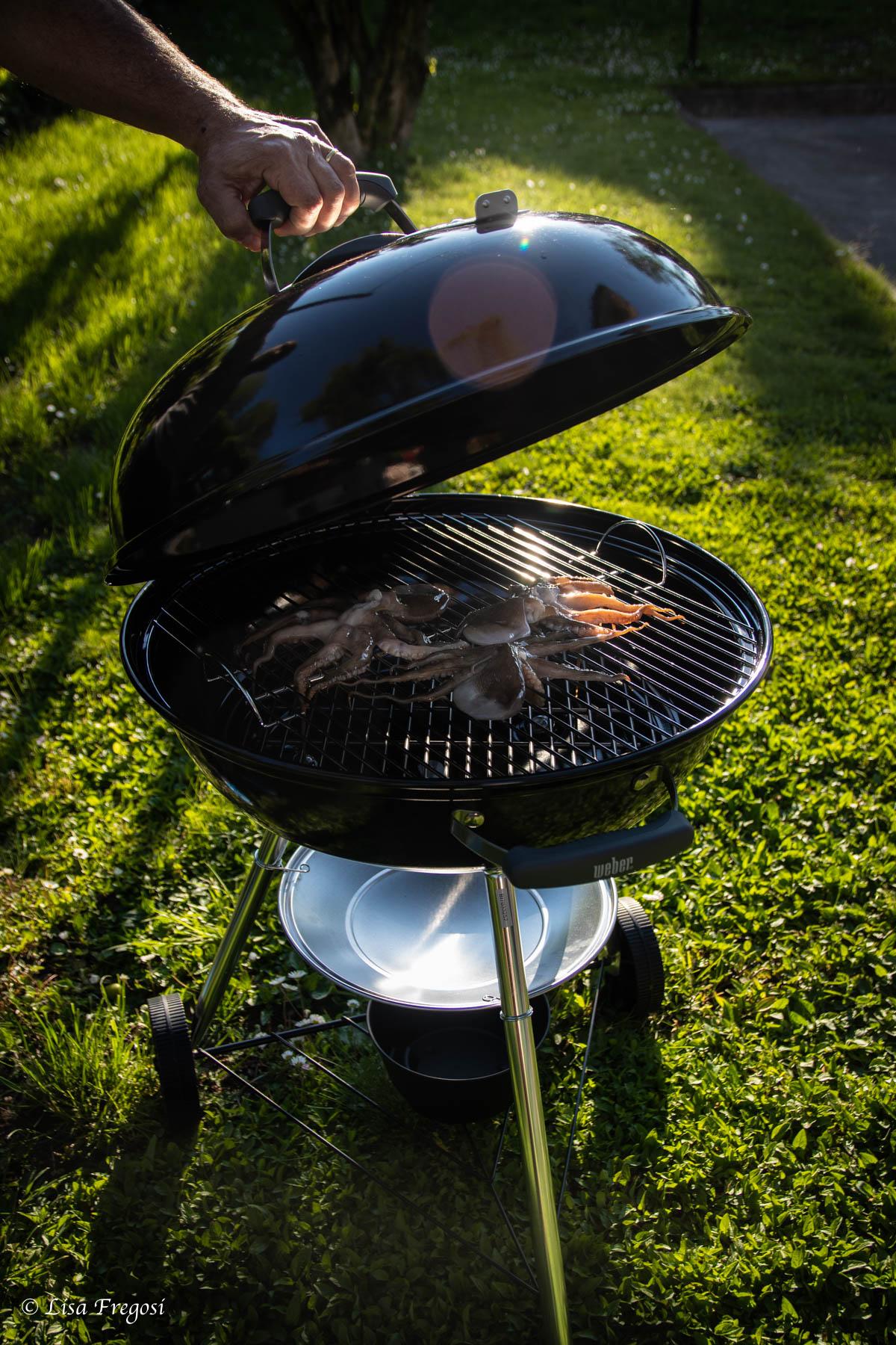 come cucinare il polpo su barbecue weber manomano