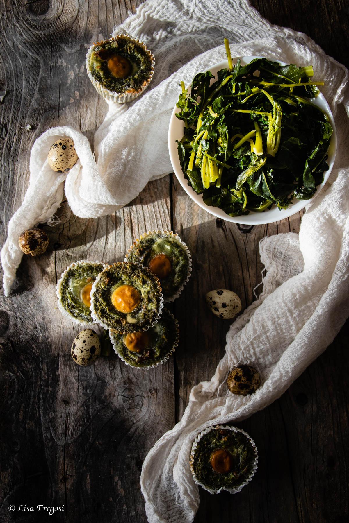 broccolo fiolaro ricetta sformatini uova quaglia