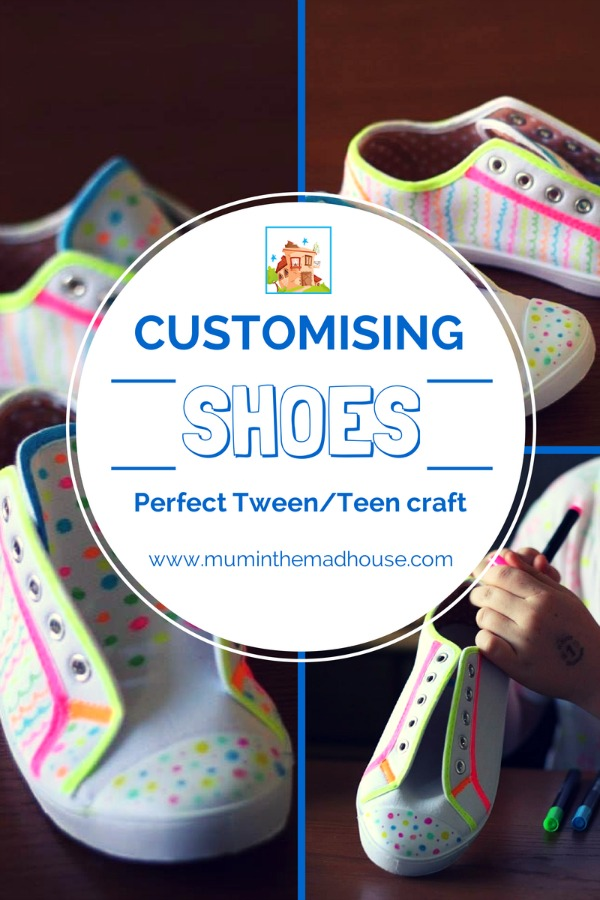 Decorating Shoes With Fabric Pens A Perfect Tween Craft