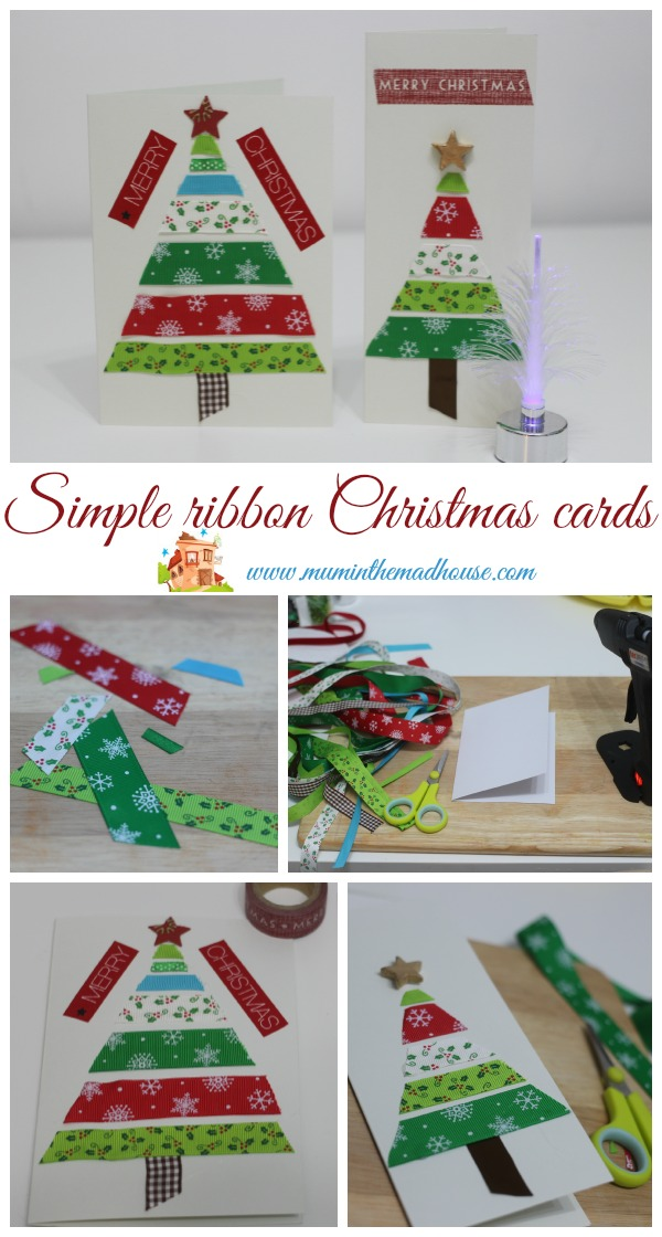 Easy Ribbon Christmas For Kids To Make Mum In The Madhouse