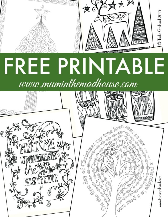 Free Christmas Colouring Pages for Adults and Teens - Mum In The