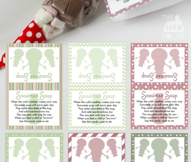Snowman Soup And Free Printable Labels