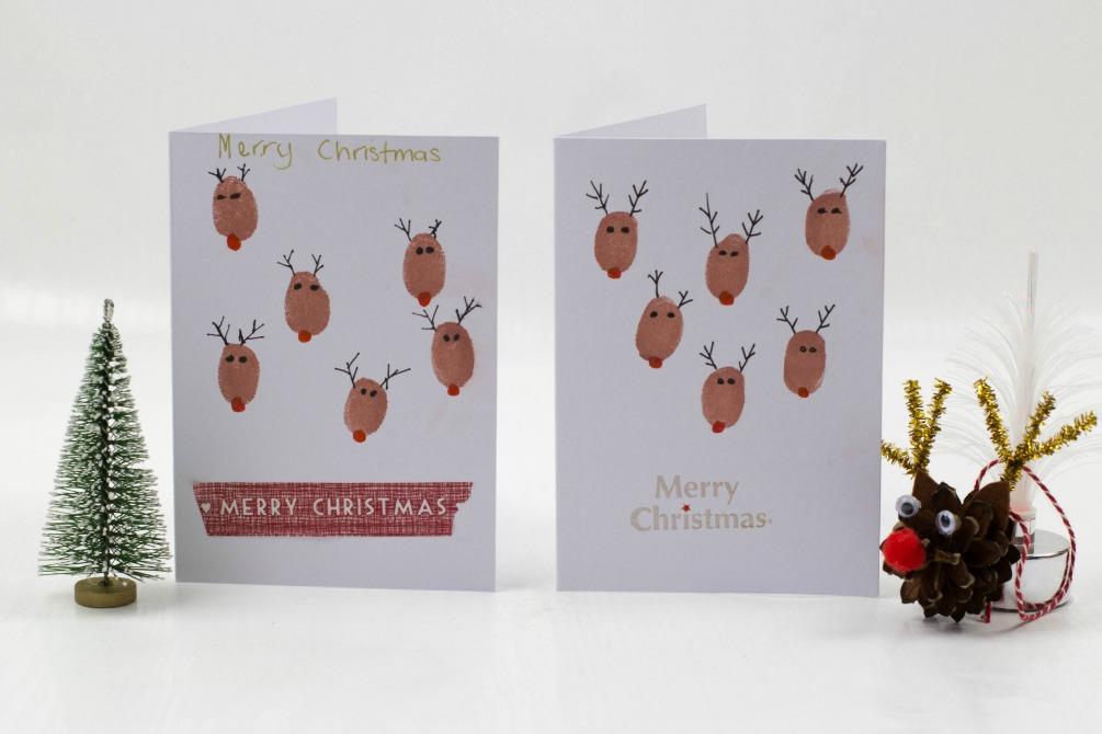 Fingerprint Christmas Cards Mum In The Madhouse