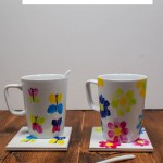 Diy Butterfly And Flower Fingerprint Mugs Mum In The Madhouse