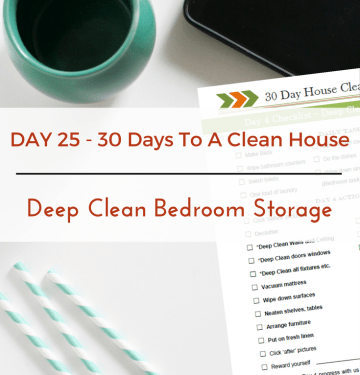 Deep Clean Bedroom Storage