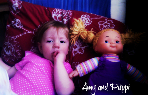 Amy's first doll and how she creates quite some arguments in our house