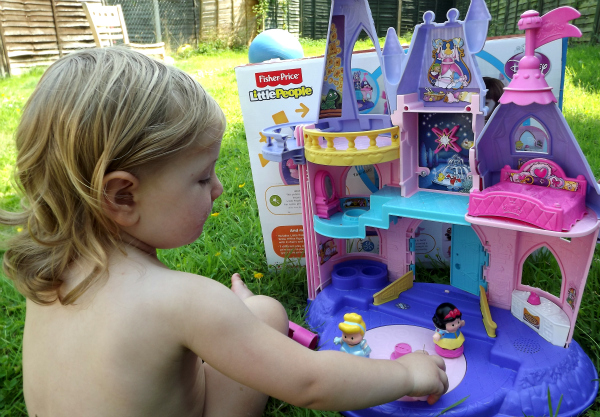Amy plays with Disney Princess Palace from Fisher Price Little People