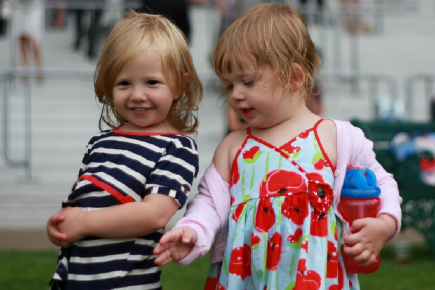 Amy and Sophie at the races in 2013