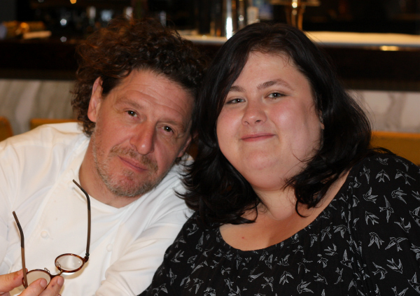 Marco Pierre White and me at Marco Restaurant in Chelsea Football Stadium