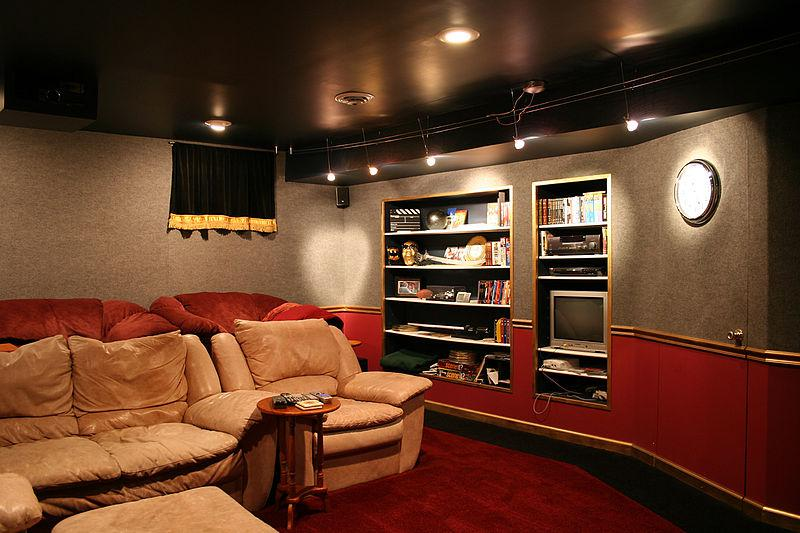 Home Cinema in Basement