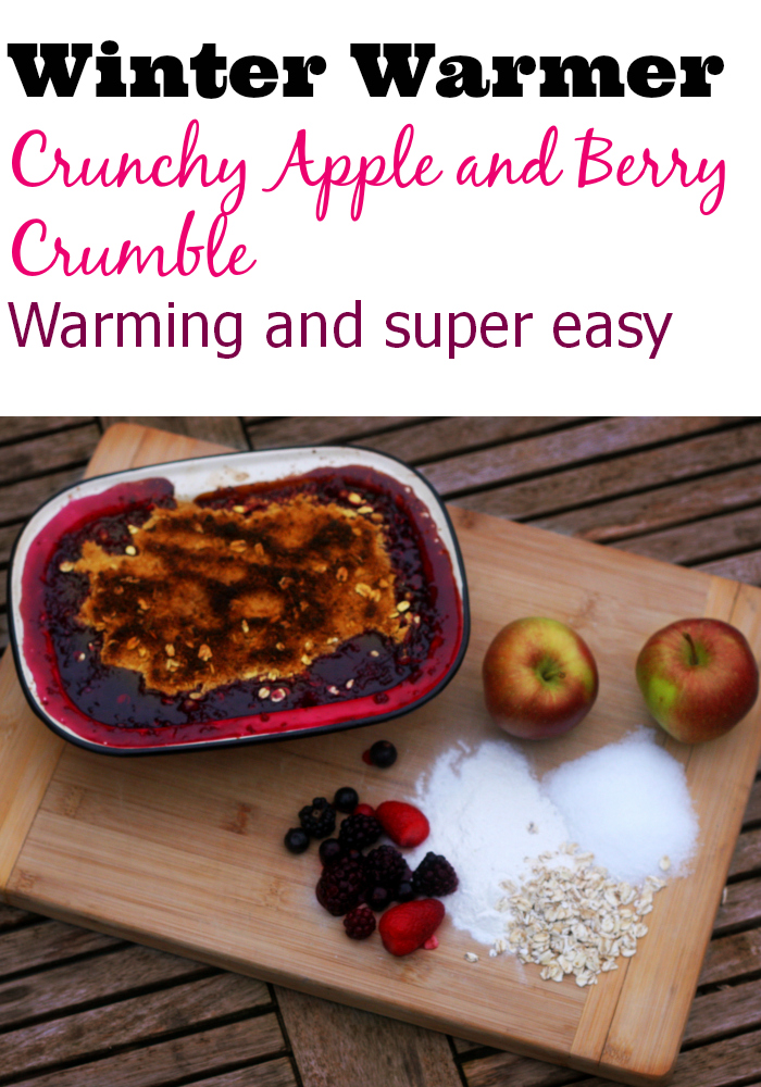 crunchy apple and berry crumble recipe, crumble recipe