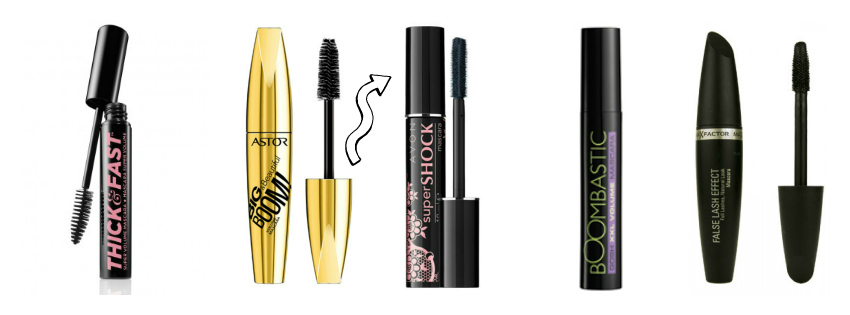 top mascaras, best 5 mascaras uk, thick and fast soap and glory, astor big and beautiful book, avon super shock mascara, boomtastic gosh, false lash effect maxfactor 3