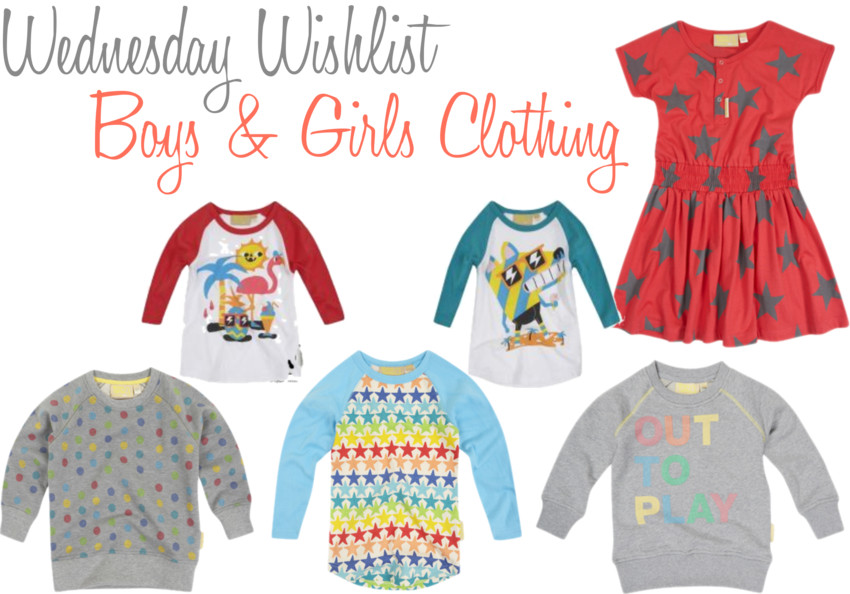 Wednesday Wishlist Boys & Girls clothing
