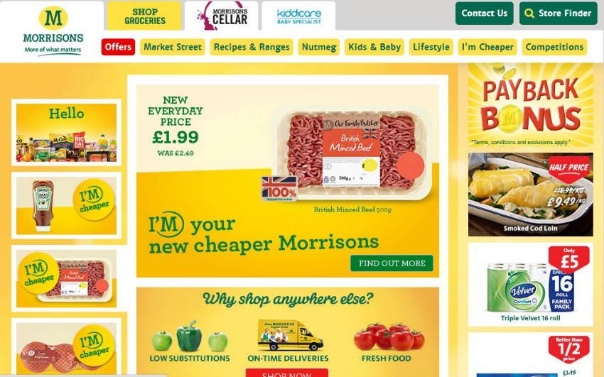 Morrisons also offer online shopping now