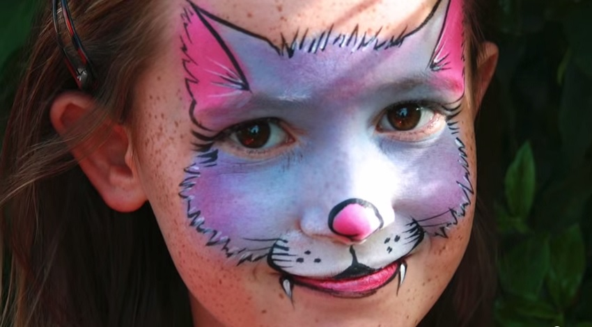 i love this cute and colourful kitty cat face painting its perfect for little ones as it uses bright and cheerful colours and no one will get scared