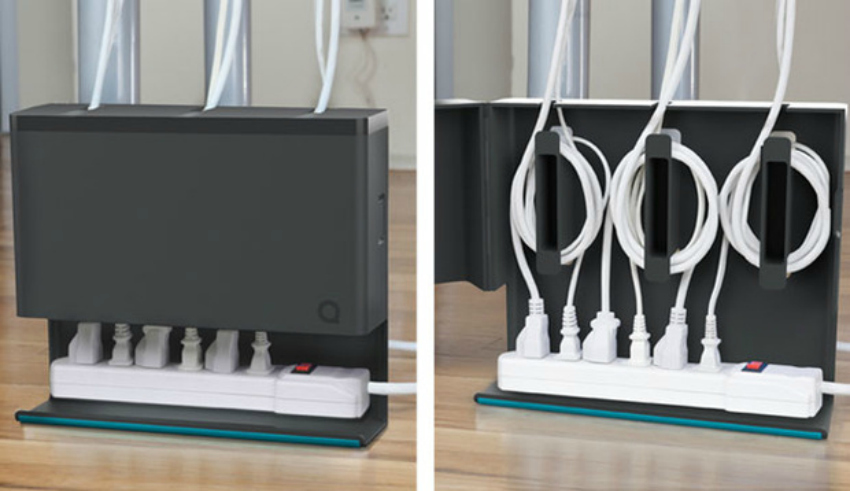 how to organise your home office - hide cables
