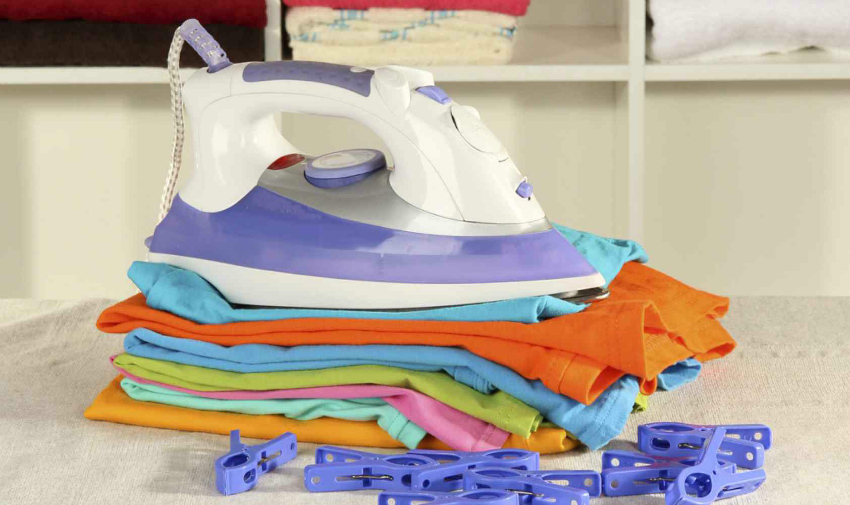 laundry hacks, save time ironing your clothes