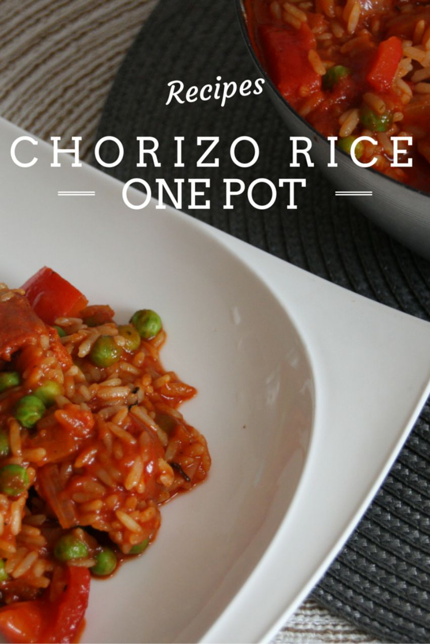 Chorizo Rice pot, one pot meals, one pot dishes