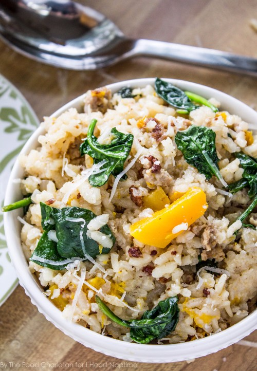 slow cooker recipes risotto with butternut squash and sausage