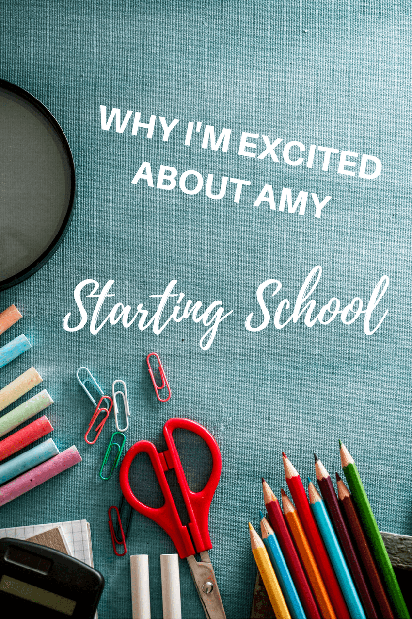 why I'm excited about Amy starting school, first day of school