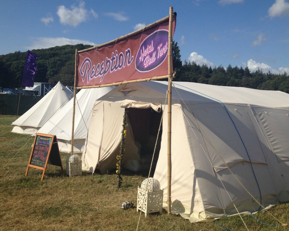 Hotel Bell Tent Reception