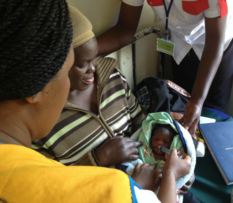 Anti Retro Viral drugs at birth mean this baby will grow up HIV negative