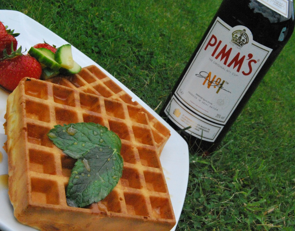 Waffles with Pimms