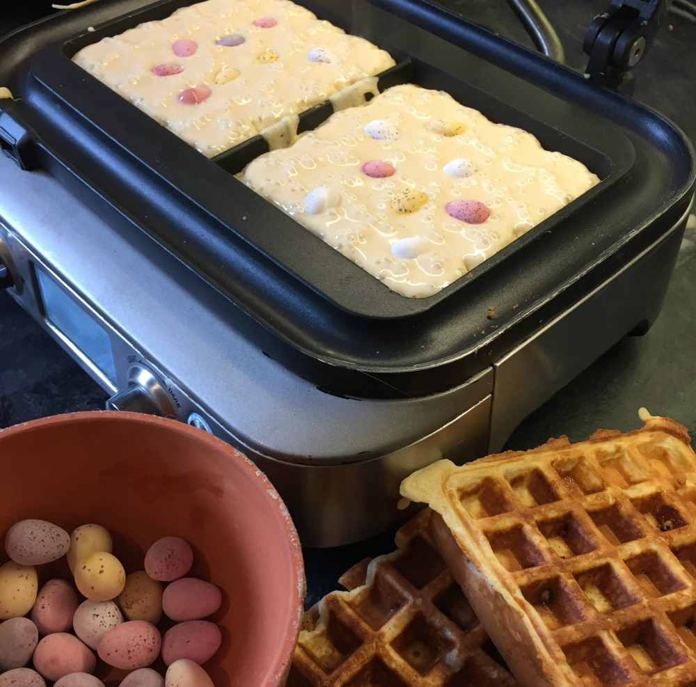 Waffled Easter Eggs