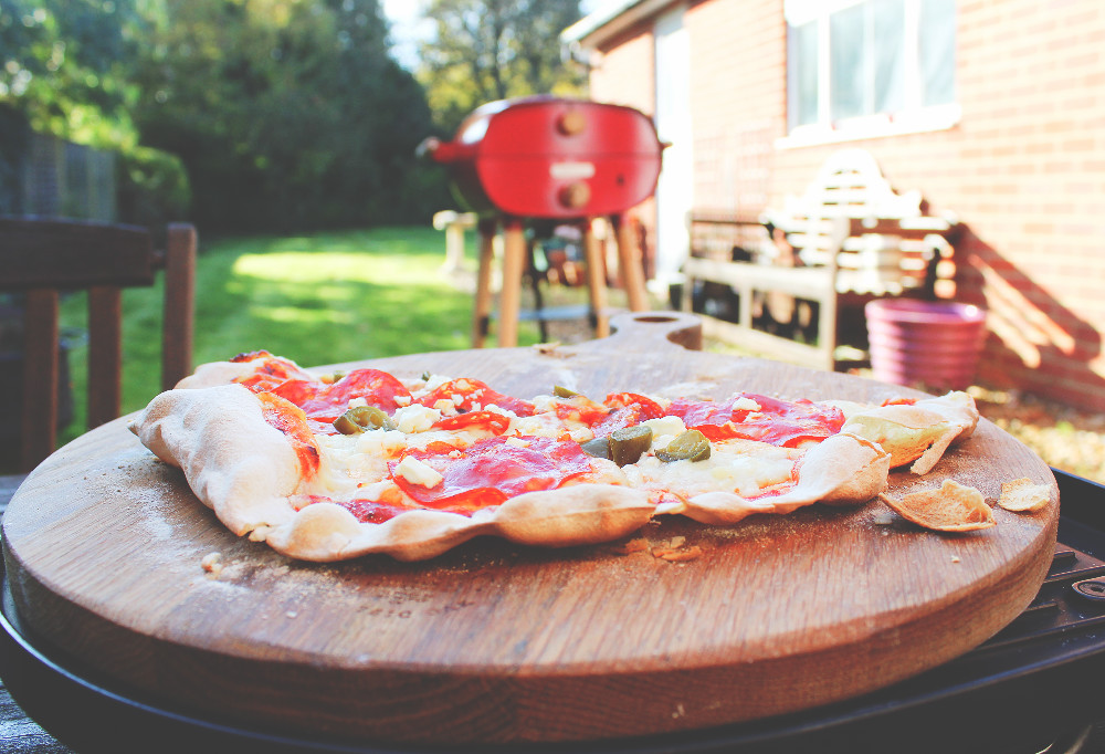 Pizzas cooked with a Firepod