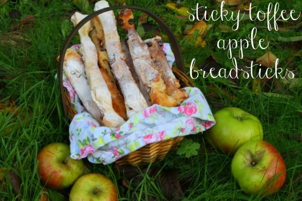 Sticky Toffee Apple Breadsticks