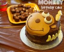 A Monkey Cake & Birthday Party