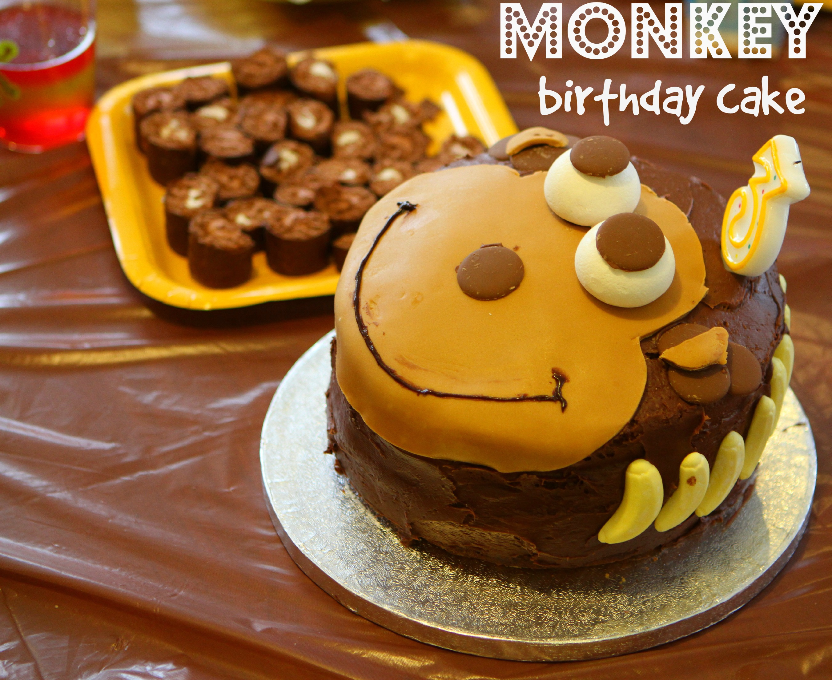 A Monkey Cake & Birthday Party