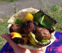 Easy Rio Olympics Inspired BBQ Meatball Kebabs