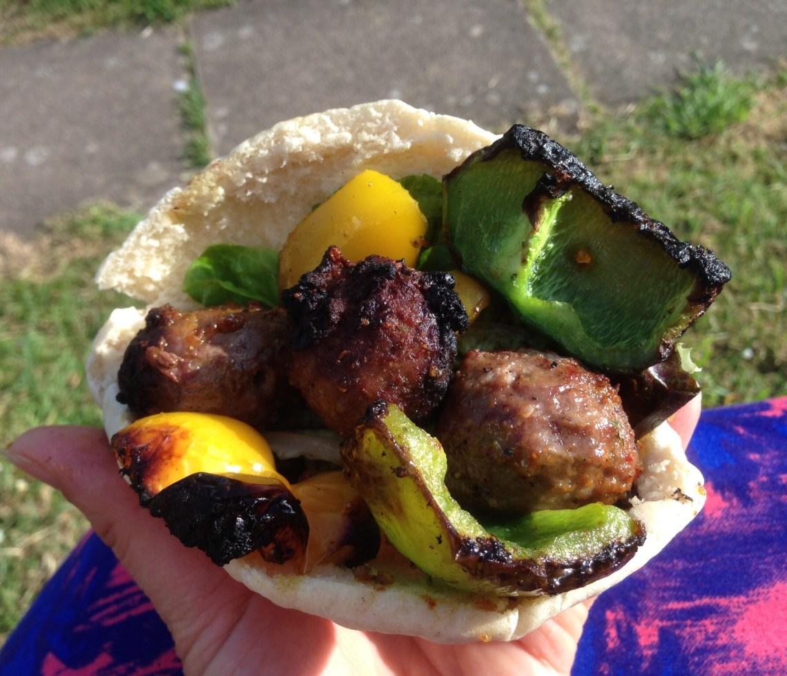 Rio Olympics BBQ Meatball Kebabs