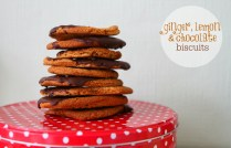 Ginger, Lemon & Chocolate Biscuits (#Greatbloggersbakeoff2014 #week2 Biscuits)