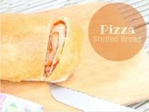 Pizza Stuffed Bread  (#Great Bloggers Bake Off 2014 #Week3 – Bread)