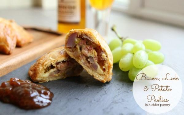 Bacon, Leek and Potato Pasties  (#GreatBloggersBakeOff2014 Week #7)